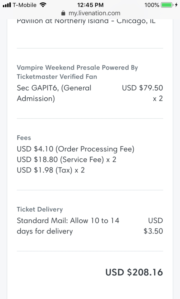 Vampire Weekend Tickets